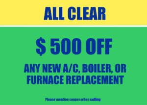 $500 off new Air conditioner coupon